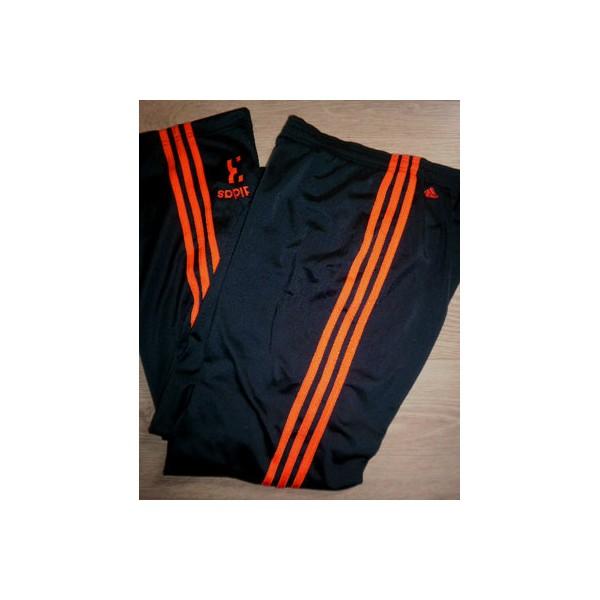 pantalon jogging 3 bandes oranges fluo adidas n 3 taille 40 argus foot sports. Black Bedroom Furniture Sets. Home Design Ideas