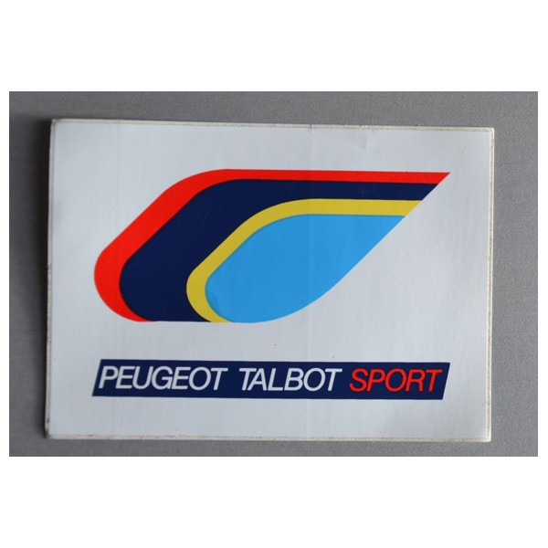 ancien autocollant peugeot talbot sport argus foot sports. Black Bedroom Furniture Sets. Home Design Ideas