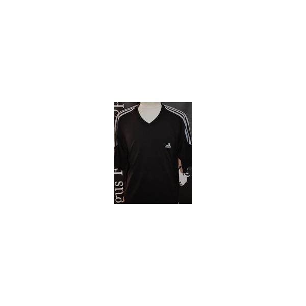 650c651c4ec5 Maillot Occasion ADIDAS CLIMALITE taille L noir bandes grises ...