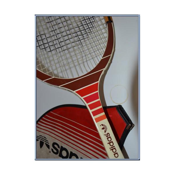 raquette de tennis en bois adidas cadet ads oo5 avec housse argus foot sports. Black Bedroom Furniture Sets. Home Design Ideas