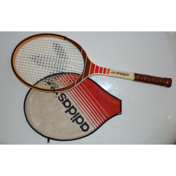 raquette de tennis en bois adidas cadet ads oo5 avec. Black Bedroom Furniture Sets. Home Design Ideas