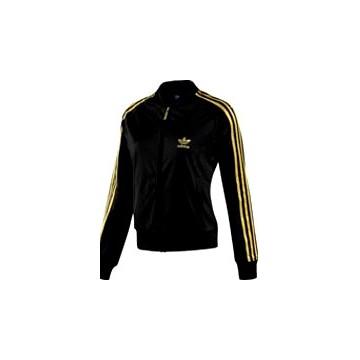 veste adidas femme noir et or