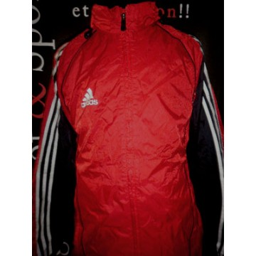 Veste 162Rouge Bandes Et Adidas Taille Doublé 3 S Blanches 7Y6fgby