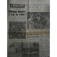Journal l&#39Equipe 32° année N°9540 Jeudi 13 janvier 1977