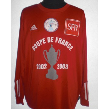 Maillot ADIDAS Coupe de FRANCE 2002 03 N°12