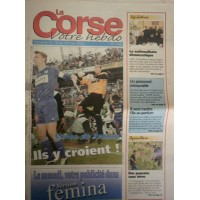 Journal LA CORSE SC BASTIA Finale Coupe de FRANCE 2002