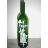 Bouteille de Vin Bordeaux Collector vide COUPE DU MONDE USA 94