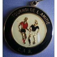 Médaille ancienne TOURNOI de l&#39amitié C.A.B Football CORSE