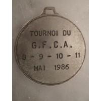 Médaille ancienne FOOTBALL  TOURNOI GFCA AJACCIO 86 CORSE