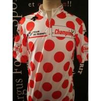 Maillot Cyclisme porté Le Tour de FRANCE à pois taille XL