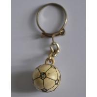 Ancien Porte clef Ballon Football à carreaux année 70 Vintage