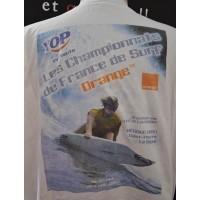 Tee shirt Championnat de FRANCE de SURF 2003 Taille XXL