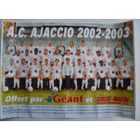 Poster Officiel ACA AJACCIO 2002-2003 Football