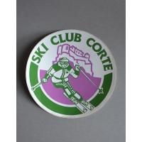 Ancien Autocollant SKI CLUB CORTE