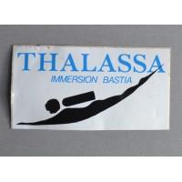 Ancien Autocollant THALASSA plongee chasse sous marine BASTIA