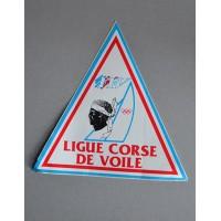 Ancien Autocollant LIGUE CORSE DE VOILE FFV