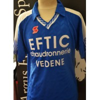 Maillot ancien Football amateur FRANCE porté N°4 ABM