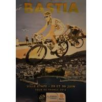 Affiche 100ème Tour de France de cyclisme BASTIA ville Etape