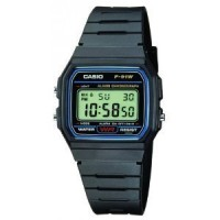 Casio F-91W-1YER Montre Homme Quartz digitale Chronographe noir