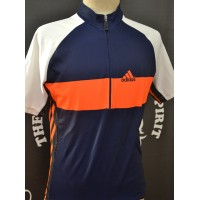 Maillot Cyclisme Entrainement ADIDAS taille 3 orange/bleu