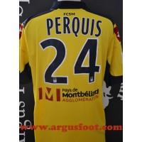 Maillot FC SOCHAUX 80ans porté N°24 LFP PERQUIS rare collection