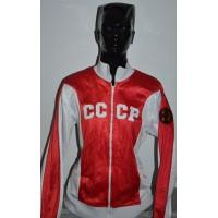Veste Femme VINTAGE CCCP taille L Rouge/Blanc
