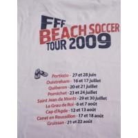 Tee shirt FFF BEACH SOCCER TOUR 2009 Porticcio Corse taille XL