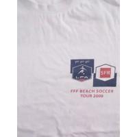 Tee shirt FFF BEACH SOCCER TOUR 2009 Porticcio Corse taille S