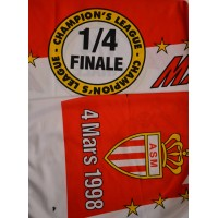 Echarpe ASM MONACO/MANCHESTER 1/4 Champion&#39s League 1998