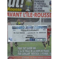 Billet FBIR ILE ROUSSE/ BORDEAUX 16ème Coupe de France