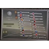 Tableau ancien LIGUE2 Saison 2008/09 classement officiel aimants
