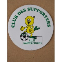 Autocollant ancien Club des Supporters ALLEZ NANTES CANARIS