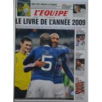 Ancien Livre L&#39EQUIPE LE LIVRE DE L&#39ANNEE 2009 180 pages