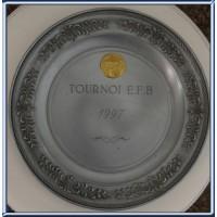 Assiette plate TOURNOI E.F.B etoile Filante Bastiaise 1997