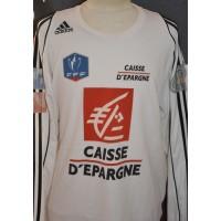 Maillot ADIDAS COUPE DE FRANCE porté N°12 FFF taille XL blanc