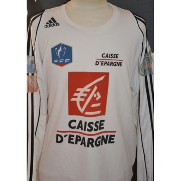 2080aee4deed Maillot ADIDAS COUPE DE FRANCE porté N°12 FFF taille XL blanc ...