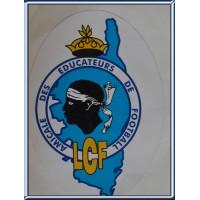 Autocollant LCF amicale des éducateurs de Football CORSE
