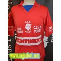 Maillot GFCA AJACCIO porté N°7 Collector Corse taille L