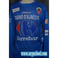 Maillot GFCA AJACCIO porté N°22 UHLSPORT Collector taille XL