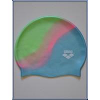 Bonnet de natation piscine ARENA taille adulte Vert/Rose/Bleu