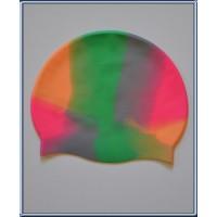 Bonnet de natation piscine taille adulte unique Multicolor