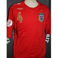 Maillot ENGLAND N°4 GERRARD EURO 2008 taille XL Umbro