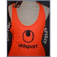 Dossard Chasuble UHLSPORT neuf avec étiquette taille XL orange