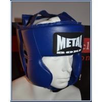 Casque multi boxe bleu metal boxe taille M