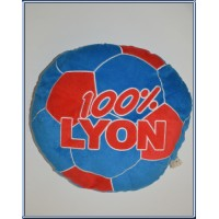Coussin rond Football 100% LYON