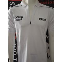 Polo BORGO FC taille M UMBRO blanc