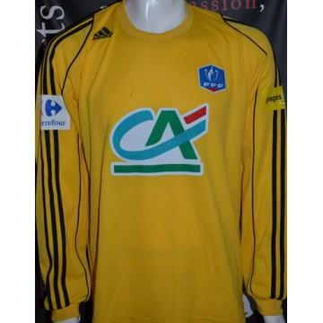 9d5c7149c390 Maillot Coupe de France FFF Adidas porté N°3 taille XL jaune - ARGUS ...