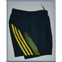 Short Enfant ADIDAS F50 taille 4-5ans Noir/bandes jaunes flou