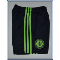 Short Enfant CHELSEA FC taille 4ans ADIDAS Noir/bandes vert flou