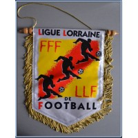 Fanion FFF LLF LIGUE LORRAINE DE FOOTBALL Grand format